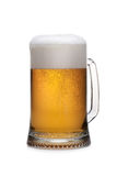 Beer into glass Royalty Free Stock Photo