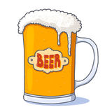 Beer glass illustration Royalty Free Stock Photography