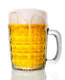 Beer glass. Beer in glass isolated on white background stock image
