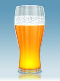 Beer glass. Cold beer glass with foam illustration Stock Photos