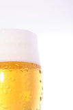 Beer on glass Stock Photography