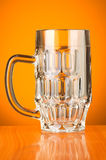 Beer glass against  background Royalty Free Stock Photography