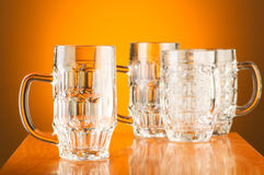 Beer glass against  background Royalty Free Stock Photos