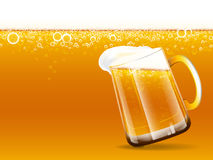 Beer glass and background Stock Images