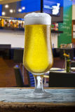Beer glass on a bar Royalty Free Stock Photography