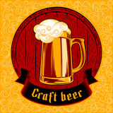 Beer Glass Barrel Foam Craft Beer Background Swirl Color Stamp Royalty Free Stock Photography