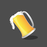 Beer glass and beer , Vector.  Royalty Free Stock Photography