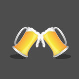 Beer glass and beer , Vector.  Stock Image