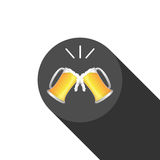 Beer glass and beer , Vector.  Stock Photos
