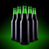 Beer in glass bottles Royalty Free Stock Photography