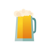 Beer glass cups icons set. Beer bottle isolated logo. Beer label, beer mug.  Royalty Free Stock Images