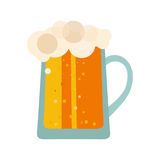 Beer glass cups icons set. Bottle isolated logo. label, mug. Oktoberfest pub collection. Vector illustration Stock Images