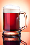 Beer glass with dark beer Royalty Free Stock Photos