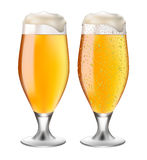 Beer in glass with drops Stock Image