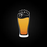 Beer glass emblem design vector Stock Photography