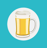 Beer glass flat design vector Stock Images
