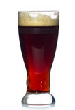 Beer glass full of cold red ale.  Royalty Free Stock Photos