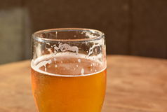 Beer in a glass. Generic beer in a clear glass Royalty Free Stock Image