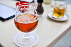 Beer in a glass goblet Stock Photography