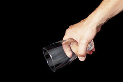 Beer glass in hand Royalty Free Stock Image