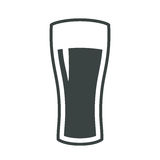 Beer glass icon iweb sign symbol logo label Royalty Free Stock Photography