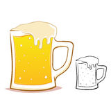 Beer glass illustration Stock Photography