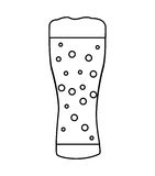 Beer glass isolated icon Stock Photos