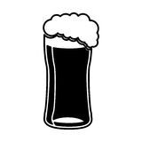 Beer glass isolated icon Royalty Free Stock Image