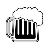 Beer glass isolated icon Stock Photo