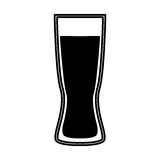 Beer glass isolated icon Stock Photography