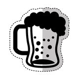 Beer glass isolated icon Royalty Free Stock Images