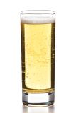 Beer glass isolated on white. Full beer glass isolated on white Stock Image