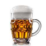 Beer in glass isolated on white Royalty Free Stock Photos