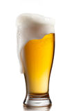 Beer in glass isolated on white Stock Image