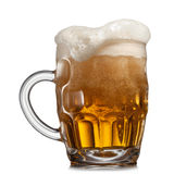 Beer in glass isolated on white Royalty Free Stock Photography