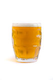 Beer Glass. Isolated on a white background stock image