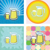 Beer in glass and jar Royalty Free Stock Image