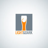 Beer glass label design background Stock Photography
