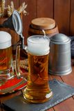Beer in a glass Stock Images