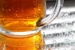 Beer glass mirror A Stock Photography