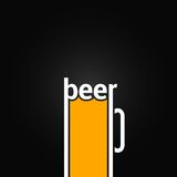Beer glass mug design background Royalty Free Stock Photography