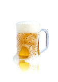 Beer in glass mug Stock Image
