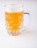 Beer glass mug. On a white background stock photos