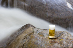 Beer glass in nature Royalty Free Stock Photography
