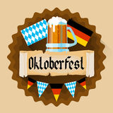 Beer Glass Oktoberfest Festival Holiday Decoration Banner Stock Image