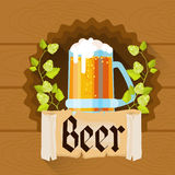 Beer Glass Oktoberfest Festival Holiday Decoration Banner Royalty Free Stock Photography