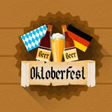 Beer Glass Oktoberfest Festival Holiday Decoration Banner Royalty Free Stock Images