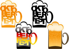Beer Glass Oktoberfest Lettering Typography Type design  Royalty Free Stock Image