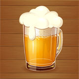 Beer in glass. Royalty Free Stock Photos