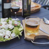 Beer Glass And Salad Stock Image